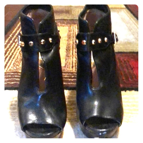 Michael Kors Shoes - Black open toe Michael Kors booties